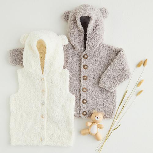 Snowflake Chunky Hooded Gilet & Jacket Pattern 5395