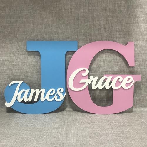 30 cm Name monogram