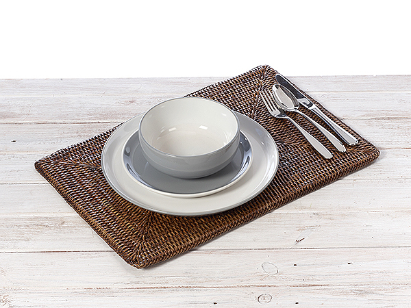 Rattan Rectangular Placemat Large / Small - Handwoven in Burma