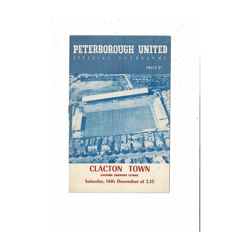 1957/58 Peterborough United v Clacton Town Eastern Counties Football Programme
