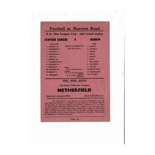 Barrow Away Football Programmes