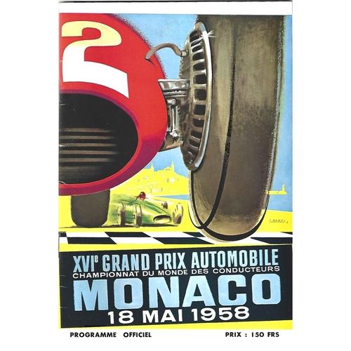 1958 Monaco Grand Prix Programme