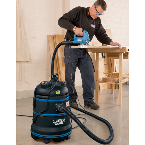 Expert 35L 1200W 230V M-Class Wet and Dry Vacuum Cleaner - Draper - 38015
