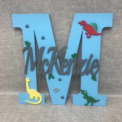 "Large "" DINOSAUR "" monogram"
