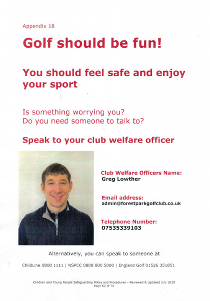 Club Welfare Officer