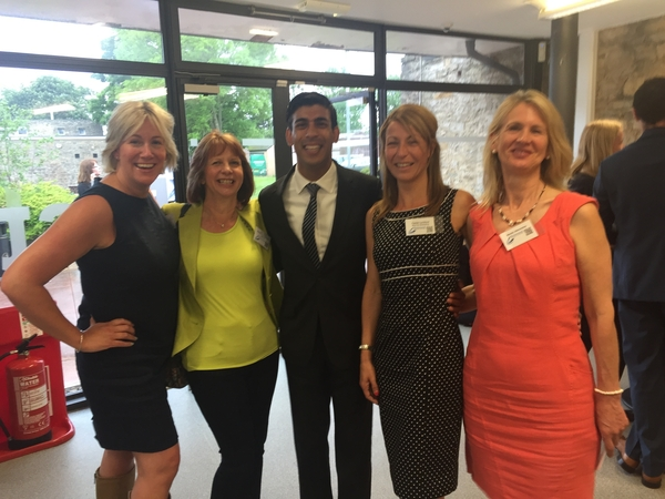 Caroline - founder & owner of Orchard House with The Rt Hon Rishi Sunak, MP