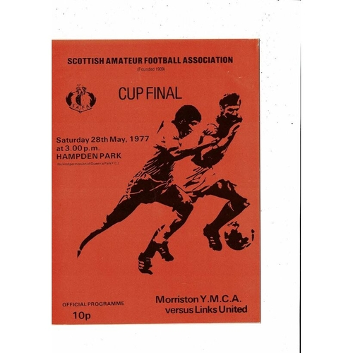 1977 Morriston YMCA v Links United Scottish Amateur Cup Final Football Programme
