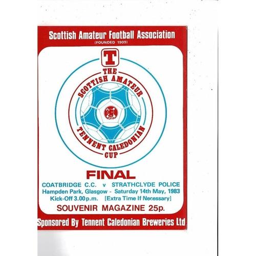 Scottish Amateur Cup Final Football Programmes
