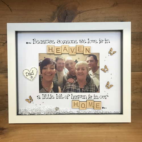 "Large "" in loving memory "" frame"