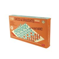 Vintage Chess and Draughts Set