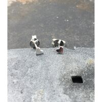 Sterling Silver Tiny Hearts Studs