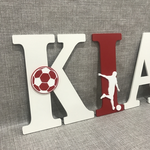 Football theme letters