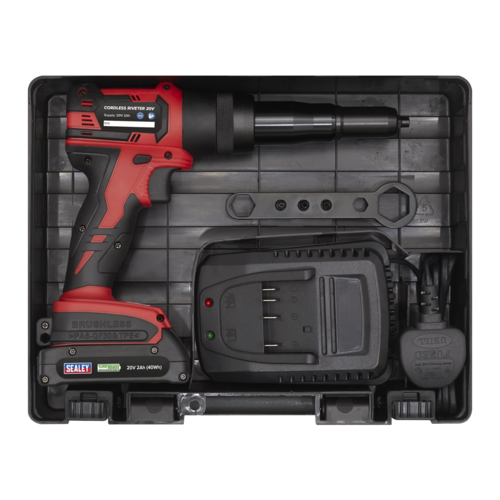 Cordless Riveter 20V 2Ah Lithium-ion - Sealey - CP314
