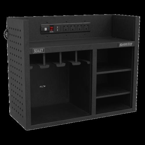 Power Tool Storage Rack 760mm with Power Strip - Sealey - AP30SRBE