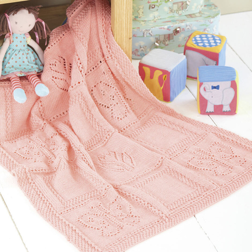 Butterfly & Flower Blanket Pattern 4528