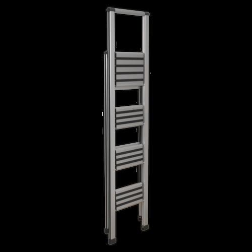 Aluminium Professional Folding Step Ladder 4-Step 150kg Capacity - APSL4