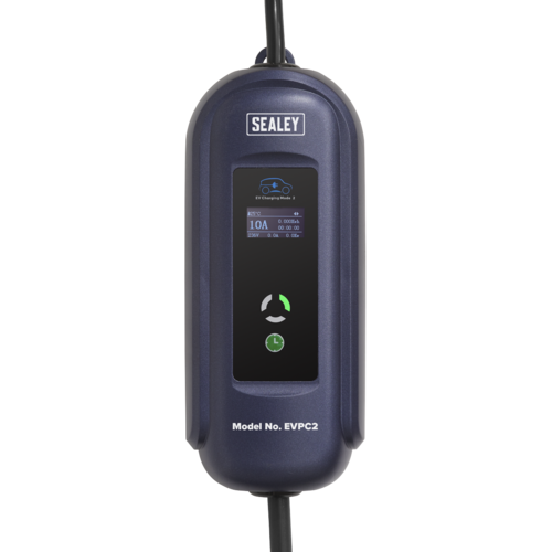 Portable EV Charger Mode 2 Type 2 to UK 10A 5m Cable - Sealey - EVPC2