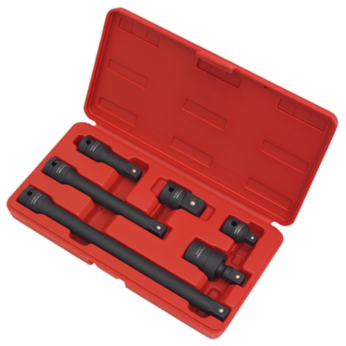 "Impact Adaptor & Extension Bar Set 6pc 1/2""Sq Drive - Sealey - AK5514"