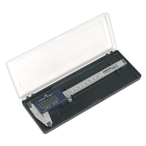 "Digital Vernier Caliper 0-150mm(0-6"") - Sealey - AK962EV"