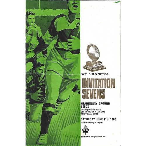 1966 Rugby League Invitation Sevens Programme