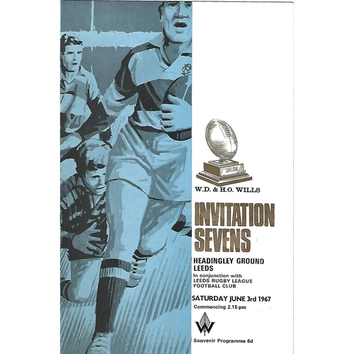 1967 Rugby League Invitation Sevens Programme