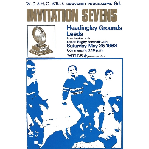 1968 Rugby League Invitation Sevens Programme