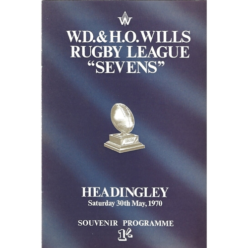 1970 Rugby League Sevens Programme