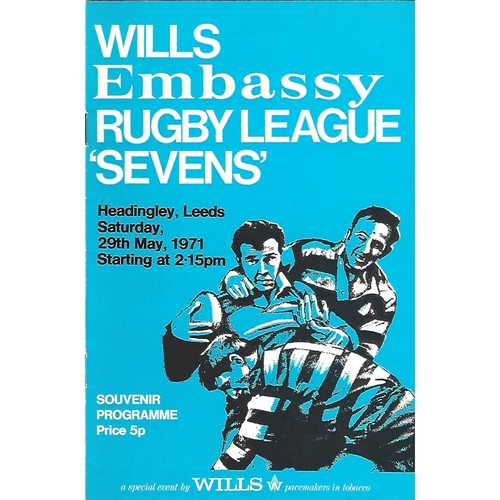 1971 Rugby League Sevens Programme