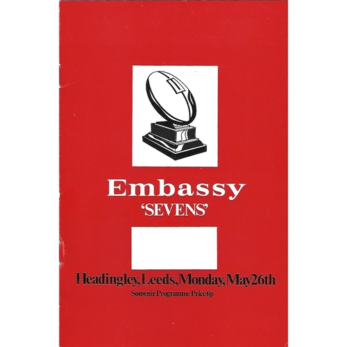 1975 Rugby League Embassy Sevens Programme
