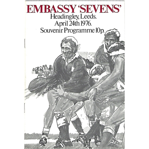 1976 Rugby League Embassy Sevens Programme