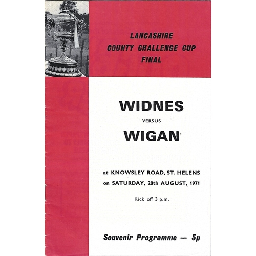 1971 Widnes v Wigan Lancashire County Challenge Cup Final Rugby League Programme