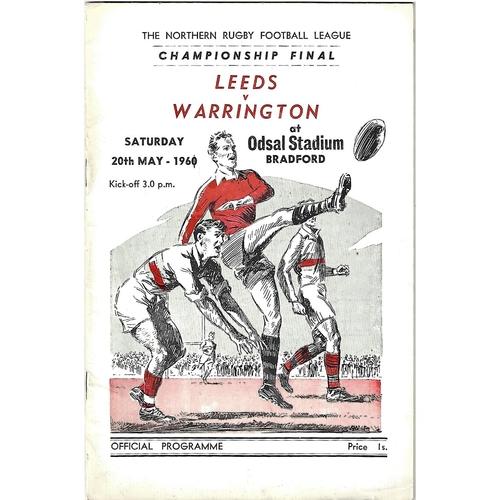 1961 Leeds v Warrington Northern Rugby League Championship Final Programme