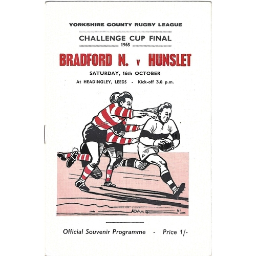1965 Bradford Northern v Hunslett Yorkshire County Challenge Cup Final Rugby League Programme