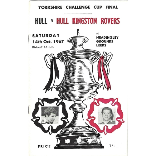 1967 Hull v Hull KIngston Rovers Yorkshire County Challenge Cup Final Rugby League Programme