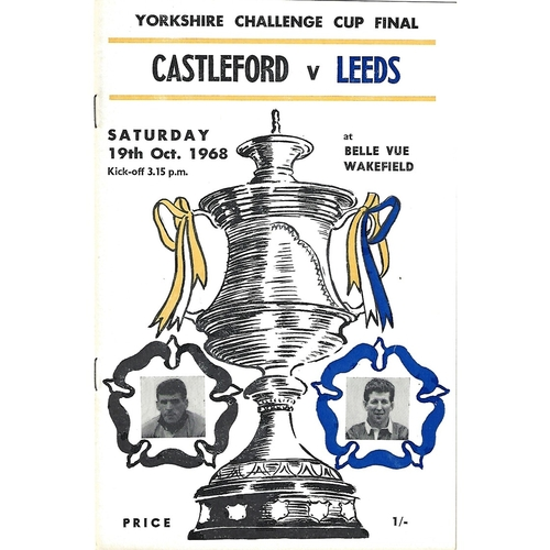 1968 Castleford v Leeds Yorkshire County Challenge Cup Final Rugby League Programme