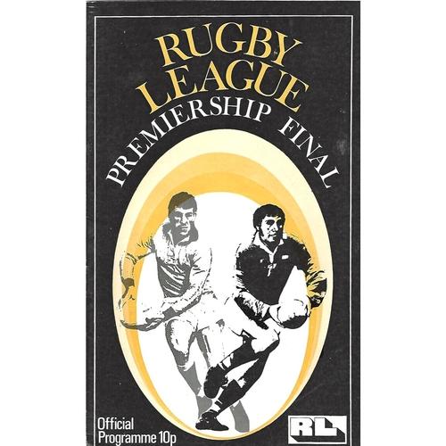 1975 Leeds v St. Helens Rugby League Premiership Trophy Final Programme