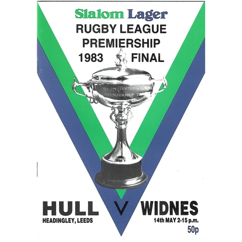 1983 Hull v Widnes Rugby League Premiership Trophy Final Programme