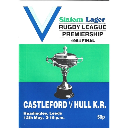 1984 Castleford v Hull Kingston Rovers Rugby League Premiership Trophy Final Programme