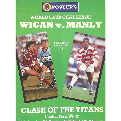 1987 Wigan v Manly Rugby League World Club Challenge Programme
