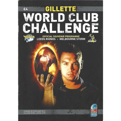 2010 Leeds Rhinos v Melbourne Storm Rugby League World Club Challenge Programme