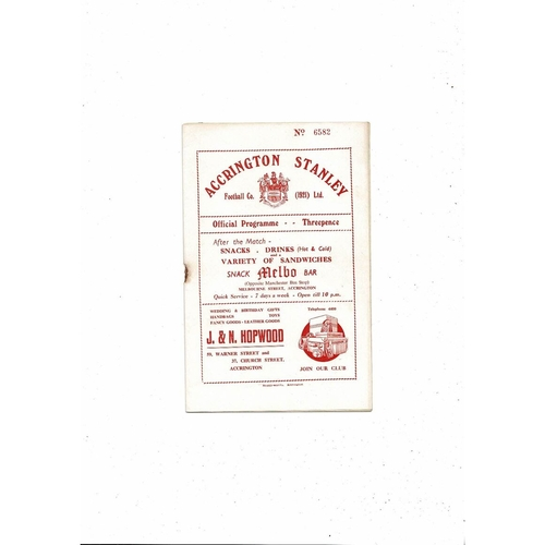 1954/55 Accrington Stanley v Oldham Athletic Football Programme