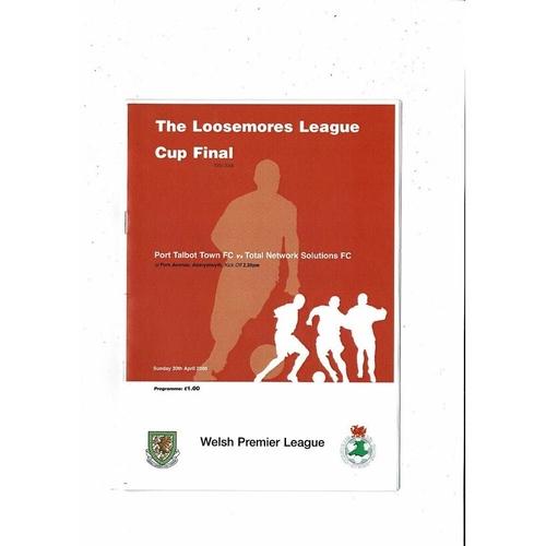 2006 Port Talbot Town v TNS Welsh League Cup Final Football Programme