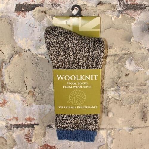 Woolyknit Wool Socks - Humbug/Indigo Tip