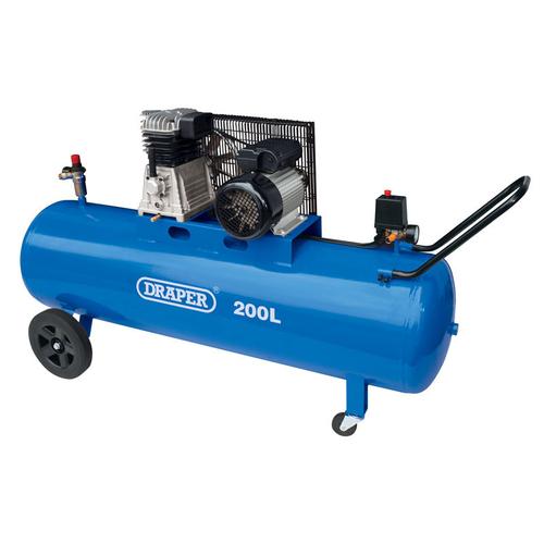 200L Belt-Driven Air Compressor (2.2kW) - Draper - 55315