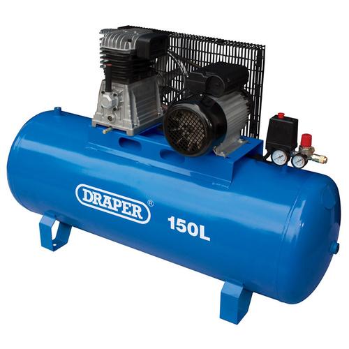 150L Stationary Belt-Driven Air Compressor (2.2kW) - Draper - 55304