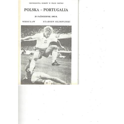 Poland v Portugal Football Programme 1983