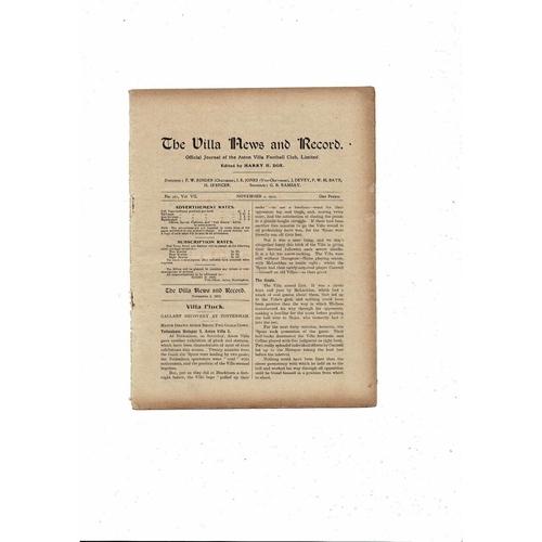 1912/13 Aston Villa v Middlesbrough Ex bound Volume Football Programme