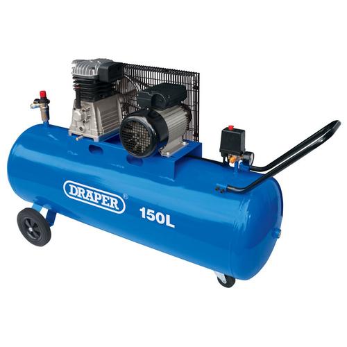 150L Belt-Driven Air Compressor (2.2kW) - Draper - 55305