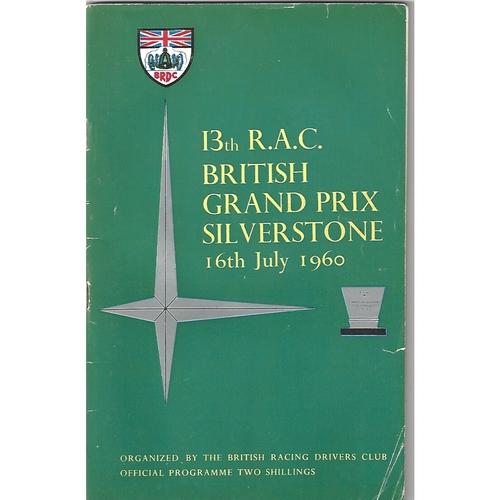 1960 British Grand Prix Programme