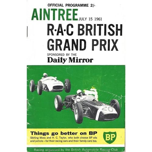 Grand Prix/Formula One Motor Racing Programmes